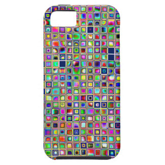Festive Rainbow Textured Mosaic Tiles Pattern iPhone 5 Covers