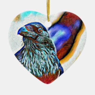Festive Raven holiday ornament