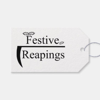 Festive Reapings parcel tag