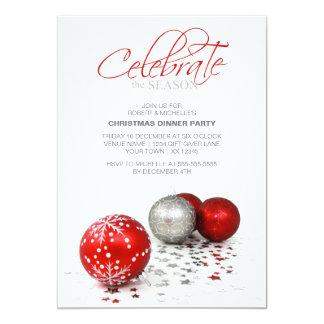 Festive Red Baubles Celebrate the Season Card