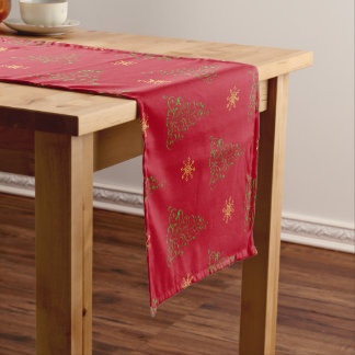 Festive Red Christmas Table Runner