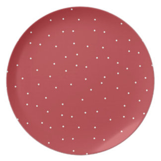 Festive Red Dinnerware Plate
