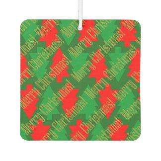 Festive Red Gold Green Christmas Tree Car Air Freshener