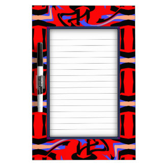 Festive Red Native Indian and Japanese Art Blend Dry Erase Board