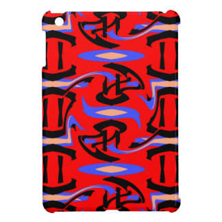 Festive Red Native Indian and Japanese Art Blend iPad Mini Covers