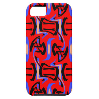 Festive Red Native Indian and Japanese Art Blend iPhone 5 Cases
