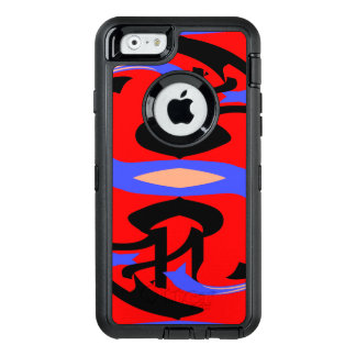 Festive Red Native Indian and Japanese Art Blend OtterBox iPhone 6/6s Case