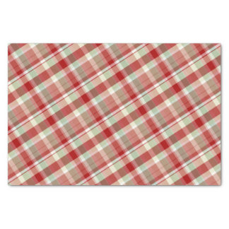 Festive Red Plaid Holiday Tissue Paper
