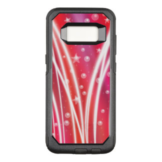 Festive Red Stars & Bubbles OtterBox Commuter Samsung Galaxy S8 Case