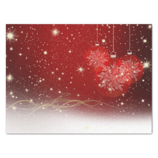 Festive Red, White and Gold Holiday Tissue Paper