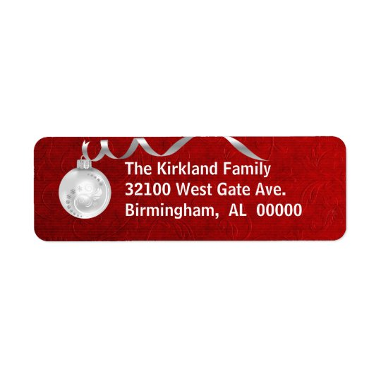 Festive Red & White Holiday Address Labels