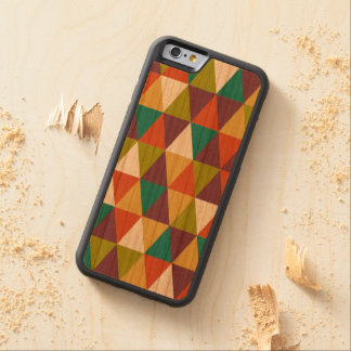 Festive Retro Geometric Wood  iPhone 6 Carved Cherry iPhone 6 Bumper Case