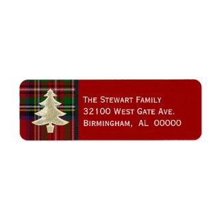 Festive Royal Stewart Plaid Christmas Labels