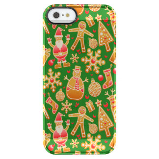 Festive Santa and Snowman Gingerbread Clear iPhone SE/5/5s Case