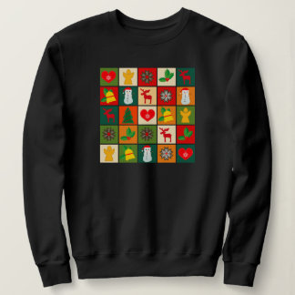 Festive Santa and Snowman Gingerbread Sweatshirt