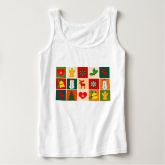 Festive Santa and Snowman Gingerbread Tank Top