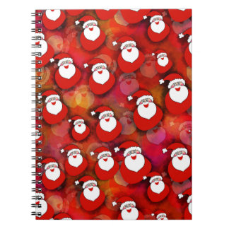 Festive Santa Claus Pattern Notebooks