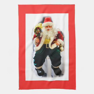 Festive Santa Kitchen Towel
