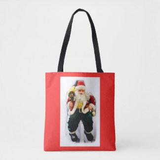 Festive Santa Tote Bag