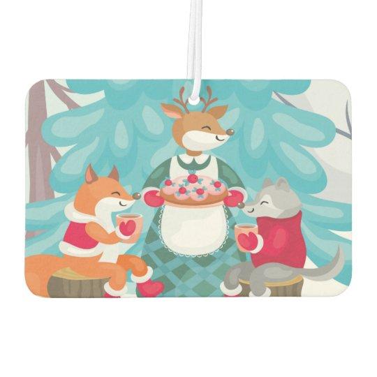 festive snow creatures car air freshener