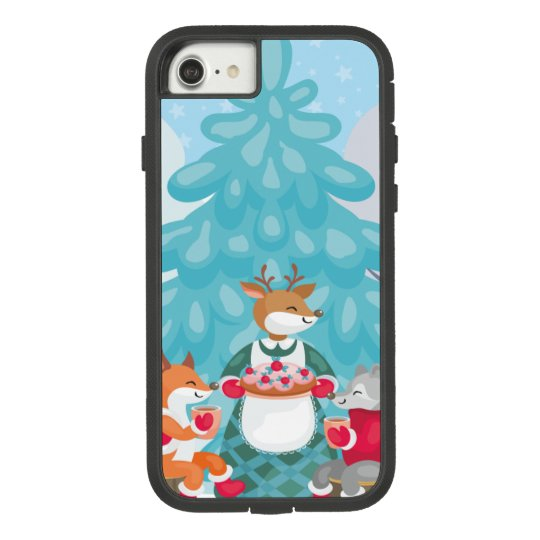 festive snow creatures Case-Mate tough extreme iPhone 8/7 case
