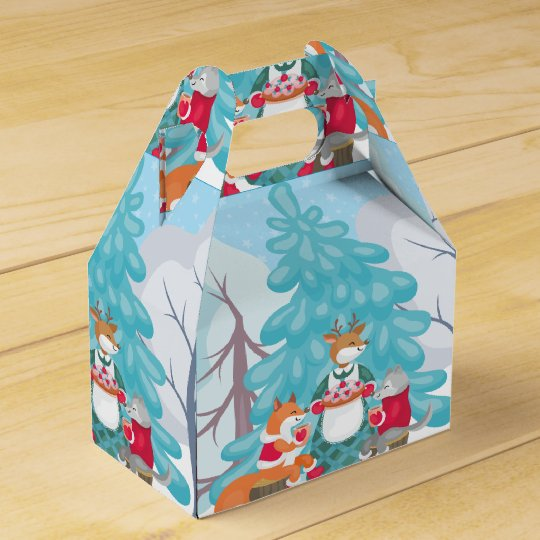 festive snow creatures favor box
