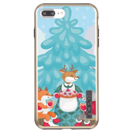 festive snow creatures incipio DualPro shine iPhone 8 plus/7 plus case