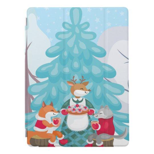 festive snow creatures iPad pro cover