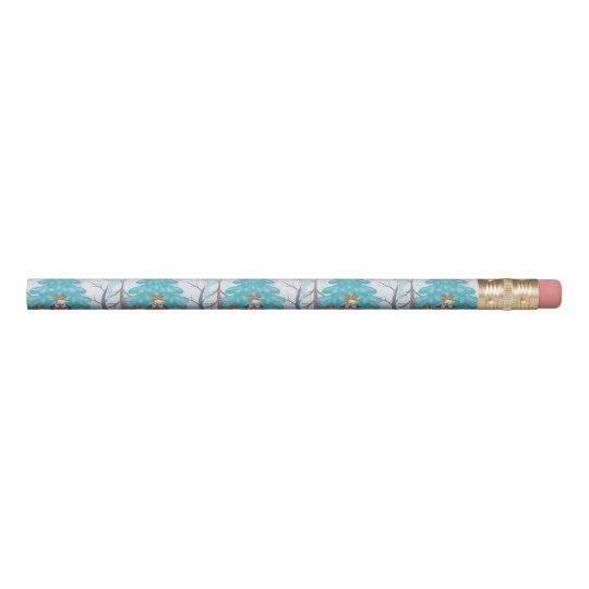 festive snow creatures pencil