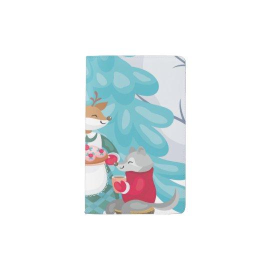 festive snow creatures pocket moleskine notebook