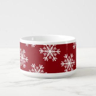 Festive Snowflake Red & White Bowl