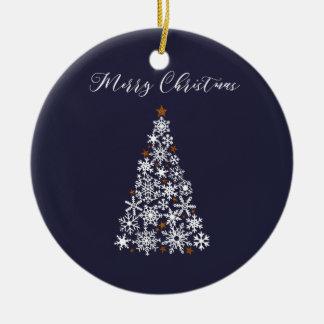 Festive Snowflake Tree Christmas Ornament