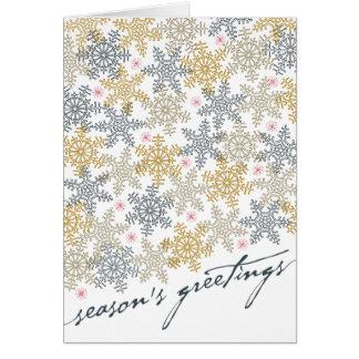 Festive Snowflakes Card