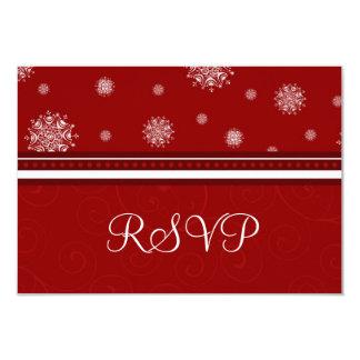 Festive Snowflakes Christmas Wedding RSVP Cards