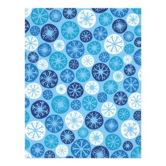 Festive Snowflakes Customized Letterhead