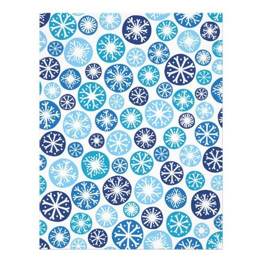 Festive Snowflakes Letterhead Template