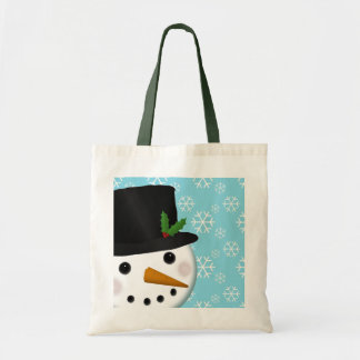 Festive Snowman Holiday Tote Bag