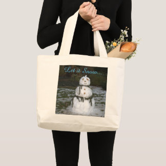 Festive Snowman Tote Bag