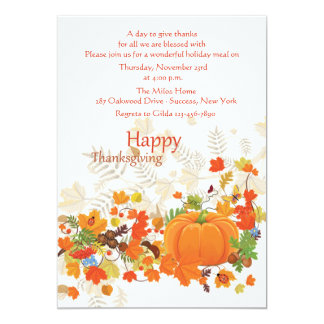 Festive Thanks Thanksgiving Invitation