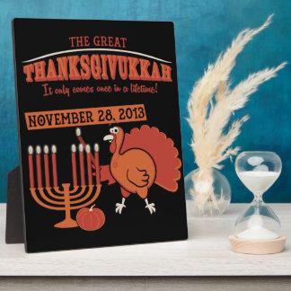 Festive 'Thanksgivukkah' Plaque