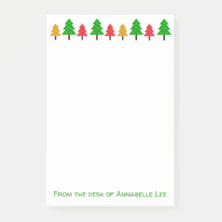 Festive Trees Post-it Notes