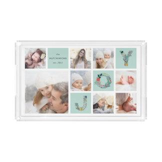 Festive Type | Holiday Photo Collage Acrylic Tray