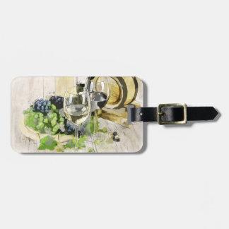 Festive Wine Celebration Luggage Tag