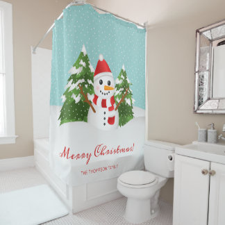 Festive Winter Snowman & Custom Name Christmas