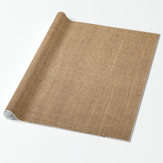 Festive wrapping paper with natural brown canvas