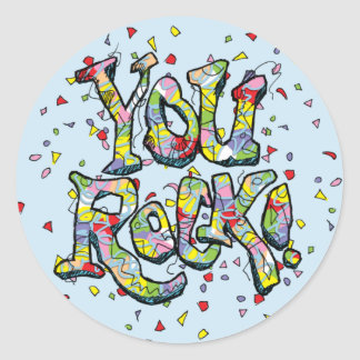 "Festive ""You Rock!"" Lettering Sticker"