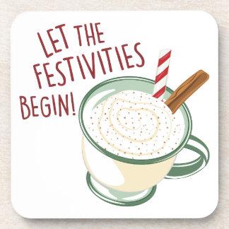 Festivities Begin Beverage Coasters