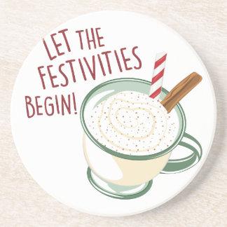 Festivities Begin Drink Coaster