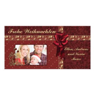 Festliches Weihnachts Design Photo Greeting Card