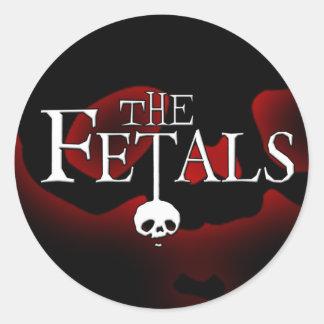 Fetals Glow Skull Logo Sticker